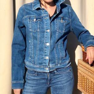 Old Navy denim jean jacket bright blue m